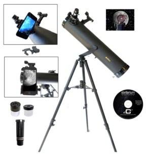Christian Dior Galileo 800 X 95mm Astronomical Telescope and Red Dot Finder Scope and Stellarium