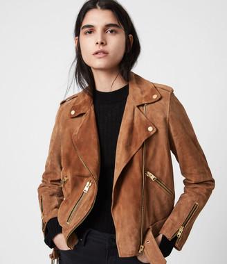 AllSaints Suede Balfern Biker Jacket