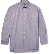 Raf Simons - Oversized Striped Cotton-poplin Shirt