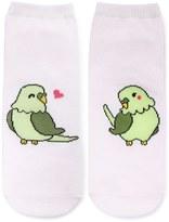 Forever 21 FOREVER 21+ Parrot Love Graphic Ankle Socks