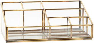 Monograph - Slanted Brass Desk Organiser