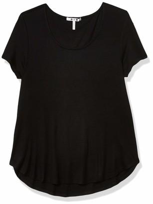 Three Dots Women's Short Sleeve Scoop Hem T-Shirt