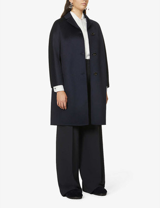 S Max Mara Anna single-breasted wool and cashmere-blend coat