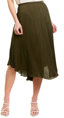 Vince Crushed Drape Midi Skirt