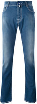 Jacob Cohen washed straight jeans - men - Cotton/Polyester/Spandex/Elastane - 33