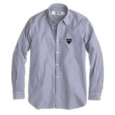 Comme des Garcons PLAY button-down shirt in stripe