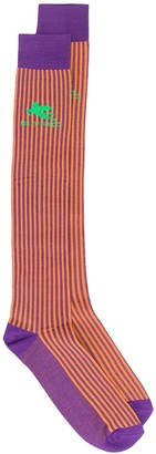 Etro Colour-Block Striped Socks