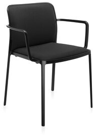 Kartell Audrey Soft Armchair Leg Color: Black, Cushion Fill: Black, Fabric: Lycra