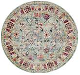 Safavieh Savannah Collection SVH680 Rug, Blue, 7' Round