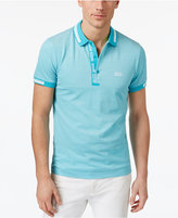 HUGO BOSS Green Men's Logo Cotton Polo