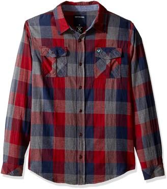 True Religion Boys' Toddler Woven Plaid Workwear Shirt