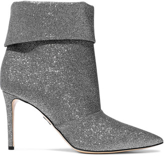 Paul Andrew Banner 85 Glittered Canvas Ankle Boots