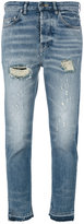 Golden Goose Deluxe Brand distressed cropped jeans - women - Spandex/Elastane/Cotton - 28