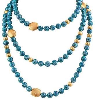 Kojis Mosaic Opal Three-Tier Necklace
