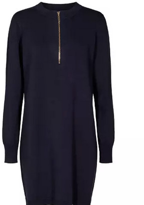 Nümph Nunew Compet Knitted Navy Dress - XS | navy | viscose - Navy