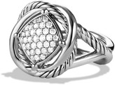 David Yurman 925 Sterling Silver with Diamonds Infinity Ring Size 6.5