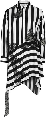 Marques Almeida Striped Appliqued Cotton Shirt Dress