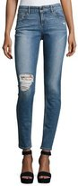 Alice + Olivia Jane Distressed Skinny Jeans, Light Blue