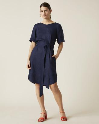 Jigsaw Linen Belted Dress