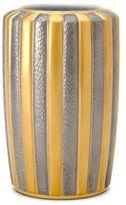 L'OBJET Voyage d'Or 24K Yellow Gold, Semi-Precious Cabochon & Limoges Porcelain Large Vase
