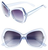 BP Women's 55Mm Thick Oval Sunglasses - Blue
