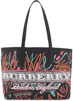 Burberry Doodle marmaking reversible canvas tote