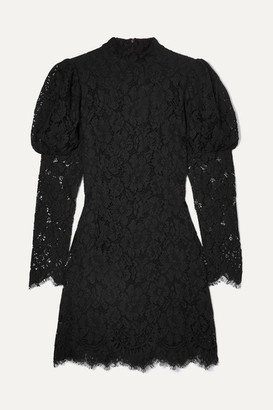 Ganni Lace Mini Dress - Black