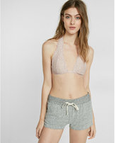 Express one eleven lightly lined lace t-back bralette