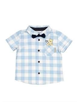 Disney Gingham Print Shirt W/Bowtie (3M-2Y)