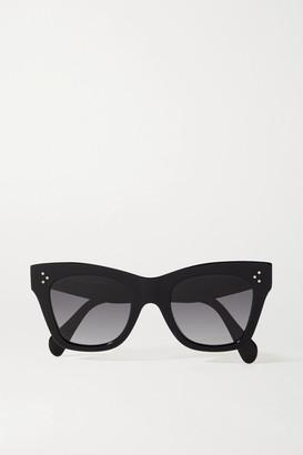 Celine Oversized Cat-eye Acetate Sunglasses - Black