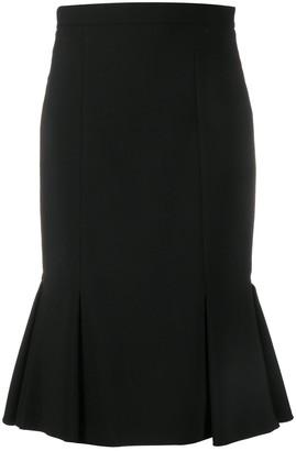 Alexander McQueen Peplum Hem Skirt