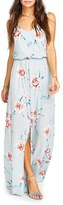 Show Me Your Mumu Women's Kendall Soft V-Back A-Line Gown