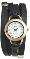 La Mer Women's 'Saturn' Leather Wrap Bracelet Watch, 22Mm