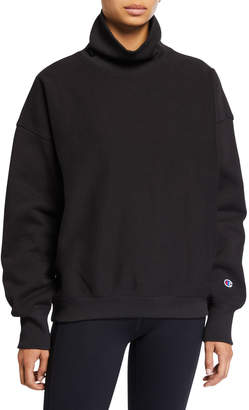 Champion Europe Reverse Weave Sleeve Logo High-Neck Sweatshirt