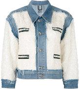 Aviu distressed panel denim jacket - women - Cotton/Polyester/Polyamide/Spandex/Elastane - S