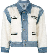 Aviu distressed panel denim jacket
