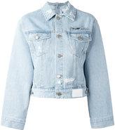 Sjyp cropped denim jacket - women - Cotton - XS