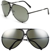 Porsche Design Men's 'P8478' 69Mm Aviator Sunglasses - Black Matte