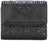 Tory Burch logo embossed flap wallet - women - Leather - One Size