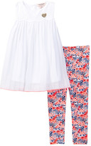 Juicy Couture Eyelet Top Tunic & Floral Print Legging Set (Little Girls)
