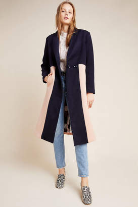 The Odells Halsey Colorblocked Wool Coat