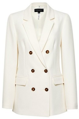 Dorothy Perkins Womens Ivory Double Breasted Jacket