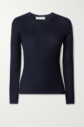 Gabriela Hearst Browning Ribbed Cashmere And Silk-blend Top