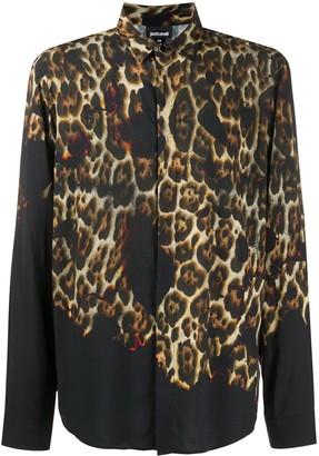 Just Cavalli Gradient Leopard Print Shirt