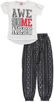 "Sweet N Sassy Big Girls' ""Awesomeness"" 2-Piece Pajamas"