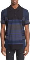 Givenchy Men's Stripe Pieced Cotton Pique Polo