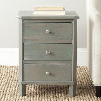 Lark Manor Joanna Solid Wood 3 Drawer End Table Color: French Grey