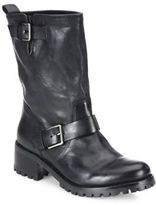 Cole Haan Hemlock Leather Moto Boots