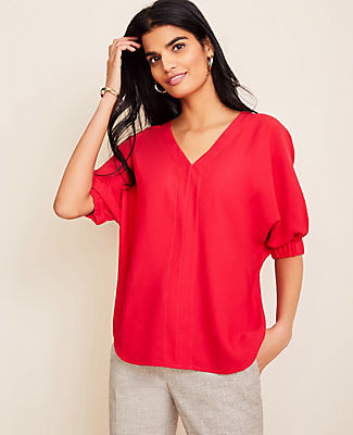 Ann Taylor Dolman V-Neck Top