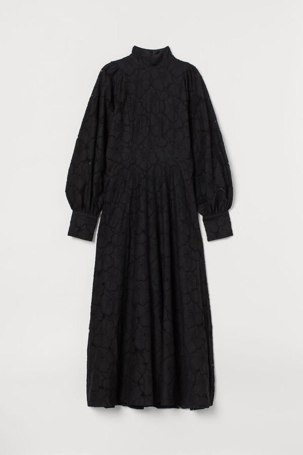 H&M Long Lace Dress - Black